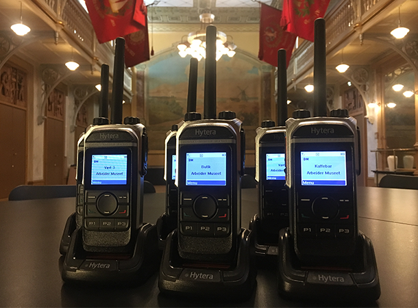 Hytera radioer til Arbejdermuseet